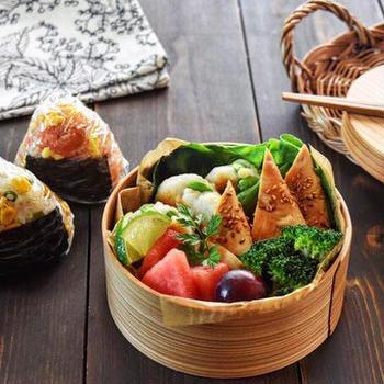 【もりもりおにぎり➕ささみの生姜焼き、枝豆はんぺん団子のお弁当】各簡単レシピあり