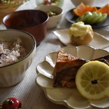 大好きなカマ♡…三食からたんぱく質を摂り入れよう!