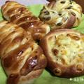 【手作り】コーンマヨパン、ウィンナーパン、かぼちゃパン【過熱水蒸気オーブンレンジ2段同時調理】
