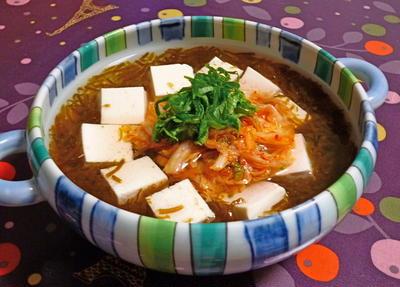 冷たいモズクのスープ