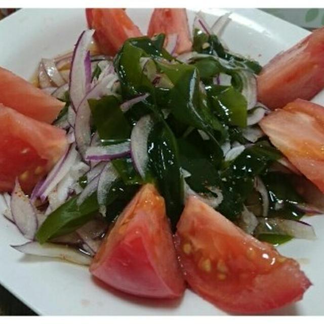 ワカメと紫オニオンのサラダ(減塩れしぴ)