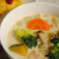 具沢山の食べるスープ*白味噌ミルクスープ*