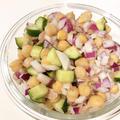 【レシピ】ひよこ豆のサラダ。 簡単でおしゃれなデリ風♡ 目分量でも絶対美味しい!