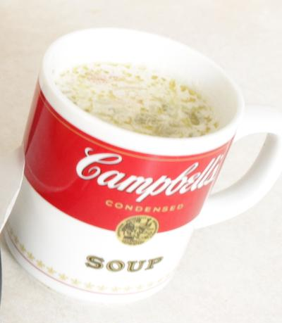 残り野菜でホワイトスープ