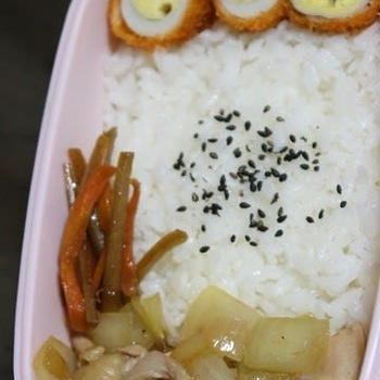 1月10日  鶏肉の塩炒め弁当