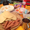 キャンプ料理♪パンケーキモーニング。