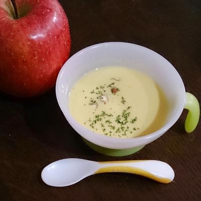 サフランとリンゴのスープ。