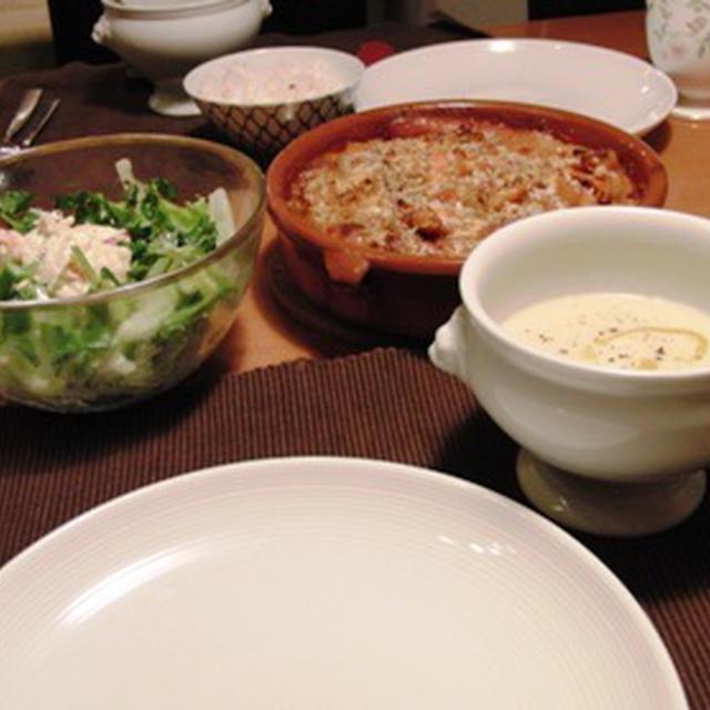 カスレとカリフラワーのスープ