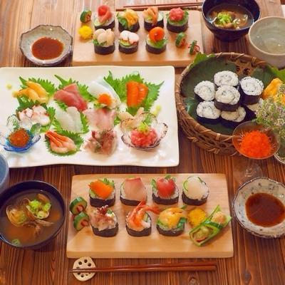 手巻き寿司!ではなく、手乗せ寿司?!