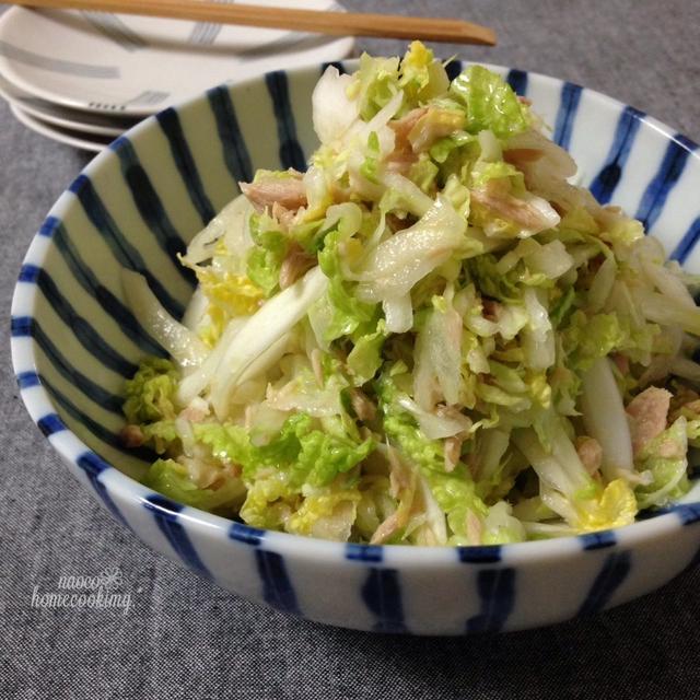 甘くてしゃりしゃり♪いい香り*柚子胡椒とツナの白菜サラダ