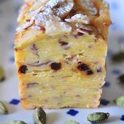 カルダモンとジンジャーと練乳入りサツマイモの重ね焼きケーキ(エキゾチック・ガトー・インビジブル)
