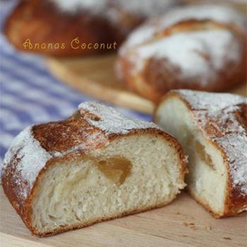パインとココナッツの米粉パン
