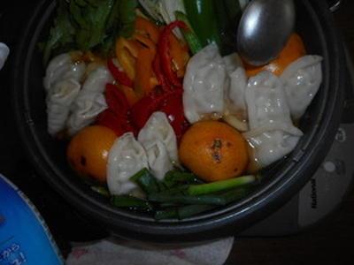 アマ二油を使って体に優しいみかん鍋を作ってみましたよ~^ー^