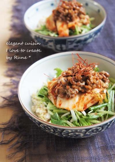 納豆 キムチ 玄米