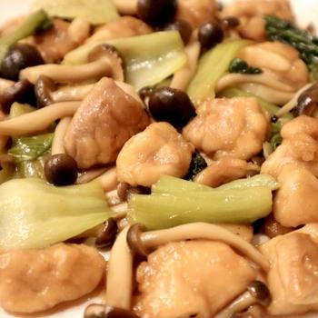 【絶品】鶏肉とチンゲン菜の中華風炒めの作り方