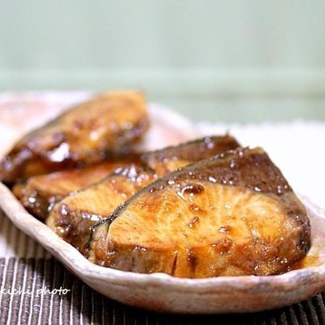 市場で買った肉厚ぶりで「ぶりの漬け照り焼き」&「京都の帰りに買ったお土産~」