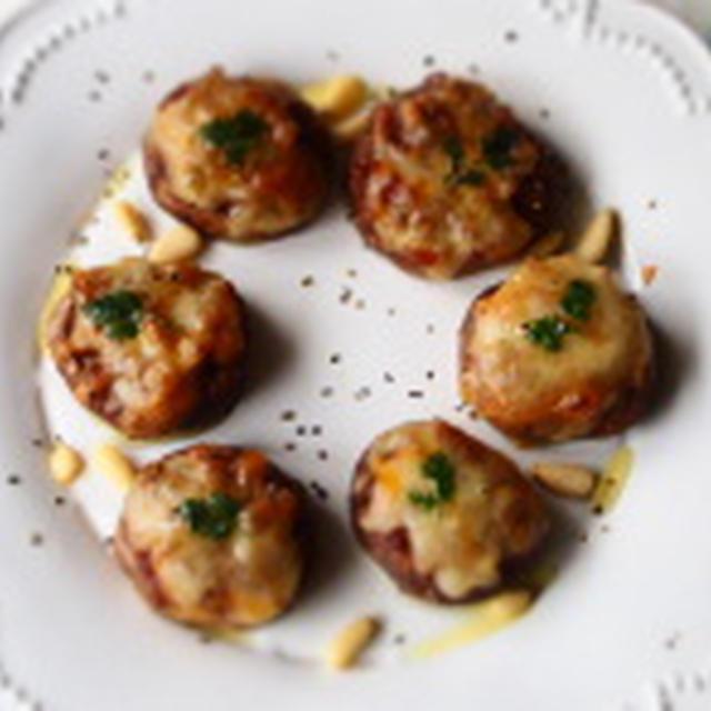 簡単おつまみ!椎茸と醤油麹のチーズ焼き/イースターPARTY