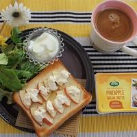 【パイナップルクリームチーズとリンゴトースト♪】