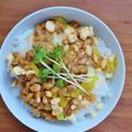 納豆好き必見!簡単なご飯ものレシピ *たくあん入り納豆ごはん*