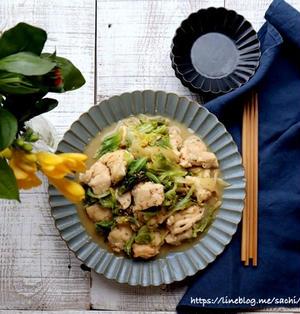 鶏むね肉と春キャベツの味噌マヨ炒め♡【#簡単レシピ#春キャベツ】