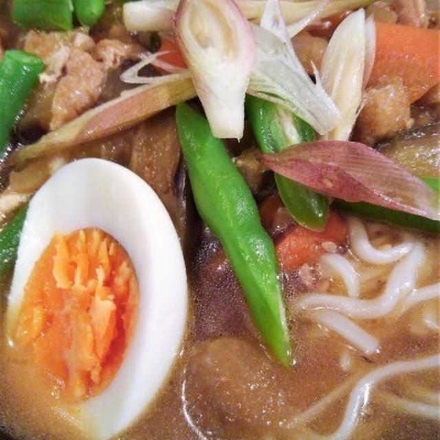 ■昼麺【ぶっかけけんちん肉うどん】いつものつけ麺と同じ汁です♪