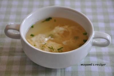 1週間節約レシピ【簡単!!たまごスープ】