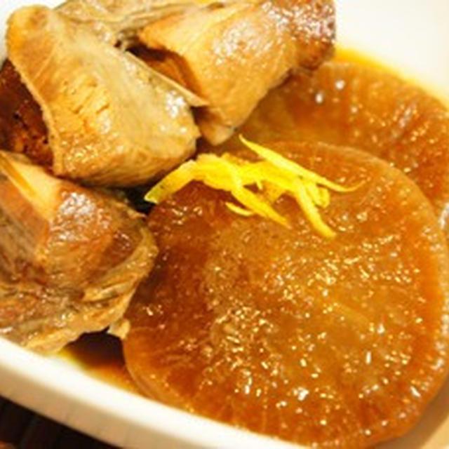 柚子香る、圧力鍋でとろける鰤大根、フライパンで簡単レタス餡、とんぶりの一品で手酌酒祭り