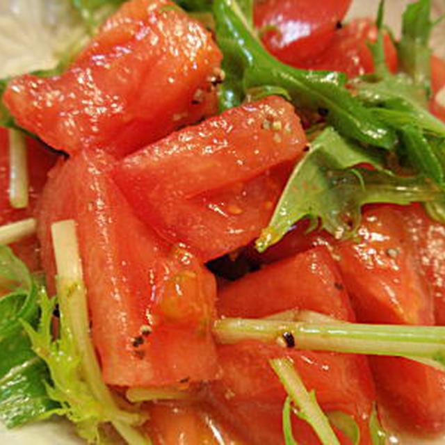 トマトサラダのドレッシング(レシピ付)