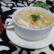 筍とキノコのピリ辛スープ