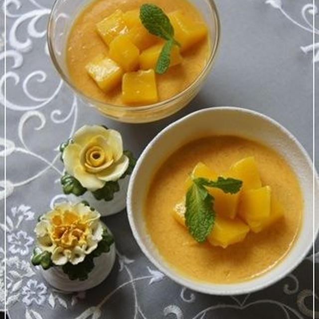 マンゴープリン(芒果布丁)の簡単レシピ:とろ~り濃厚♪