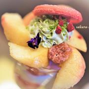 7月は桃のパフェ♡『Dessert Le Comptoir(デセール ル コントワール )』