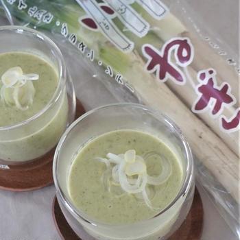 上州ねぎの和風ポタージュスープ