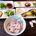 ブーイングがなかった黒米ごはん☆椎茸のマヨ醤油焼きと銀鱈の味噌漬け by みなづきさん