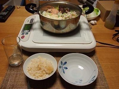 ■メニュー■鶏団子と鮭の寄せ鍋*11月11日