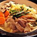みそ味やわらか豚ボイルモツ鍋☆野菜たっぷり660g☆節約簡単☆花粉症予防
