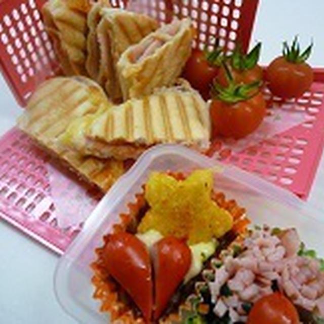 パニーニのランチとお庭でとれたデルモンテトマト 飾り巻き寿司JEUGIAカルチャー千里