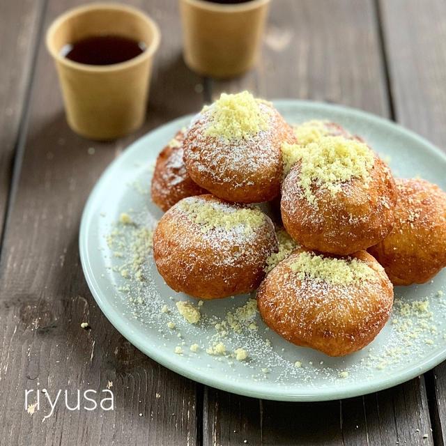 【フライパン&少量油で簡単】材料3つで栗ドーナツ