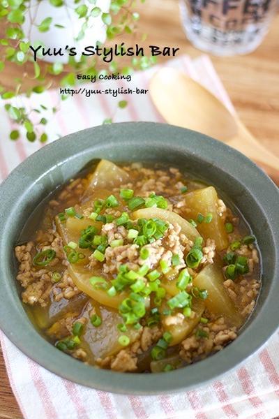 【レシピブログ連載】時間がたつほど美味しい♡胃腸を酷使するこの時期に♡『大根とひき肉の和風あんかけ』