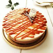 キャラメル&チョコレートのムースケーキ《セルクル不使用・シリコンモールド使用》
