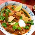 ビーフのメキシカンタコスープ ~ トルティーヤチップスを割って入れて✭