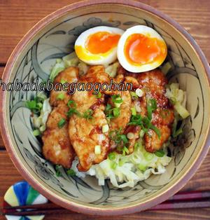 【春のスタミナ際】鶏むね肉のスタミナ焼き乗っけ丼