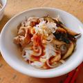 【レシピあり◎】こんにゃく麺でヘルシーごはん♬なすと豚こましゃぶのヘルシーサラダ麺