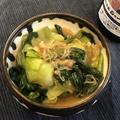 【簡単フライパンレシピ】チンゲン菜とほたて貝柱の炒め物