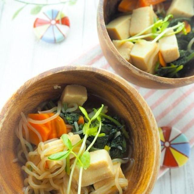 【レシピ】ジュワ〜っと美味しい高野豆腐と白滝のヘルシーうま煮