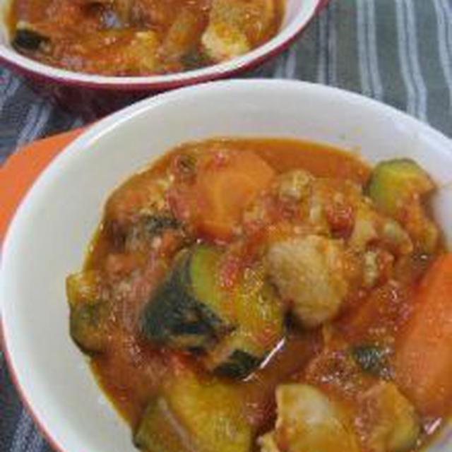 【減圧鍋:ロップ・タック】鶏肉の塩麹トマト煮込み