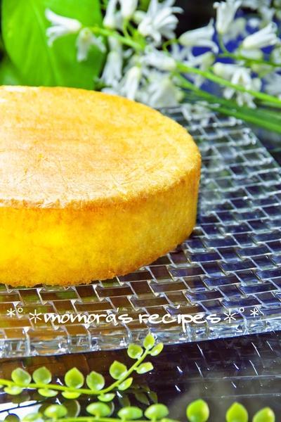 バターが無くても大丈夫なノンオイル♥ホットケーキミックスHMで簡単お菓子♪フワフワしっとりクリスマスにスポンジケーキ