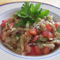 焼きナスとトマトのサラダ