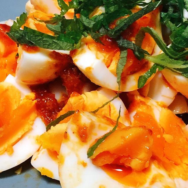 【低糖質高タンパク】ゆで卵のコチュジャン和え【簡単レシピ】