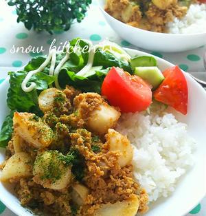 高野豆腐とカブのソース炒め丼☆