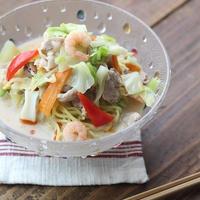 ■【ヤマキだし部】おだしと豆乳で作る野菜たっぷり冷製ちゃんぽん♪